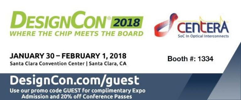 Centera Photonics, Inc. is exhibiting at DESIGNCON 2018